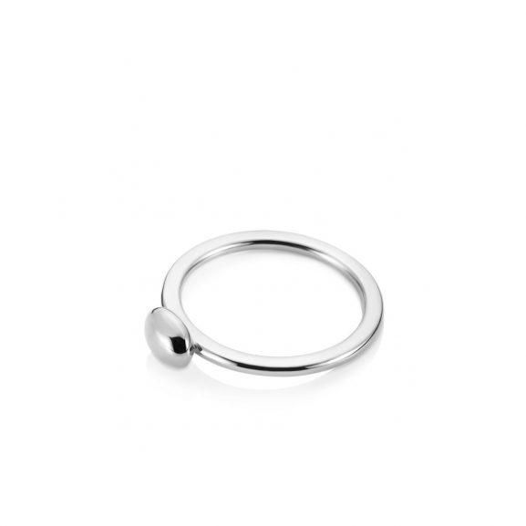 Love Bead Ring Vitguld: