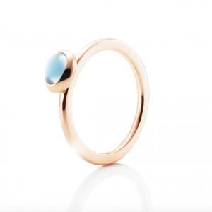 Love Beads Ring Guld - Topaz
