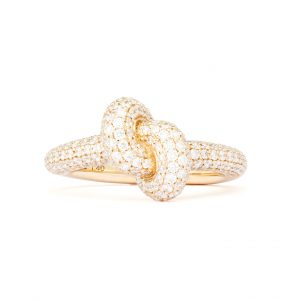 Absolutely Tight Knot Ring Guld White Diamonds