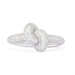 Absolutely Tight Knot Ring Vitguld White Diamonds