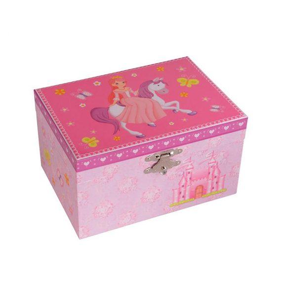 Dacapo Smyckeskrin barn rosa speldosa - TeBoon.se
