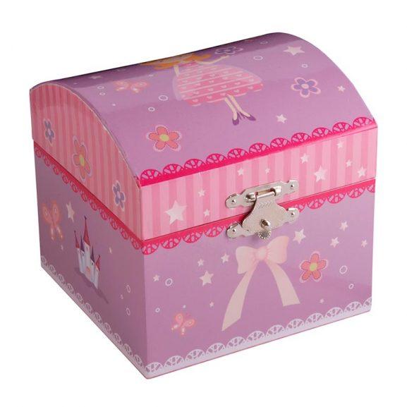 Dacapo Smyckeskrin barn rosa med speldosa - TeBoon.se