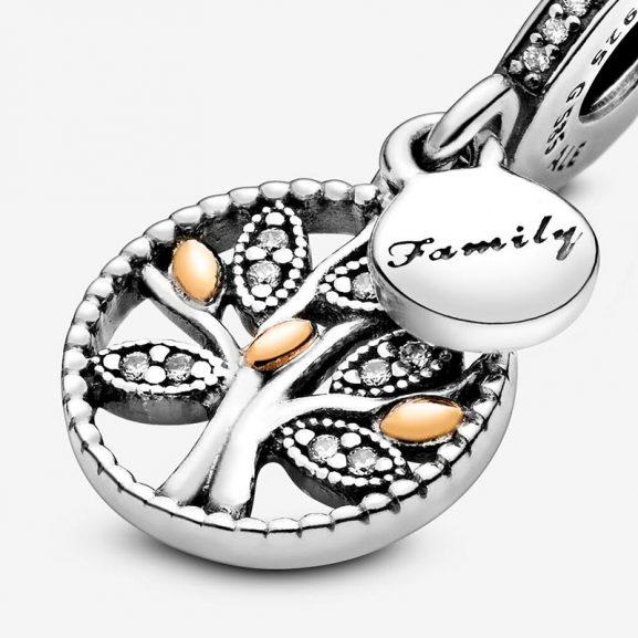 PANDORA Sparkling Family Tree Hängberlock