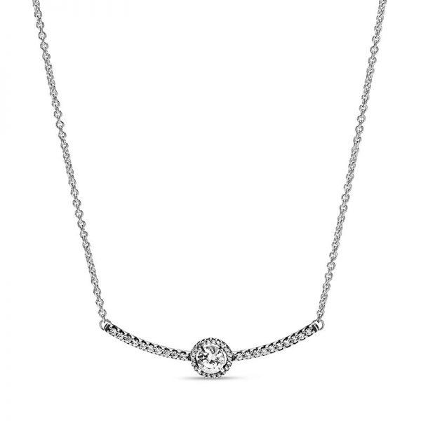 PANDORA Skimrande Cirklar Halsband Halsband fri frakt på TeBoon.se