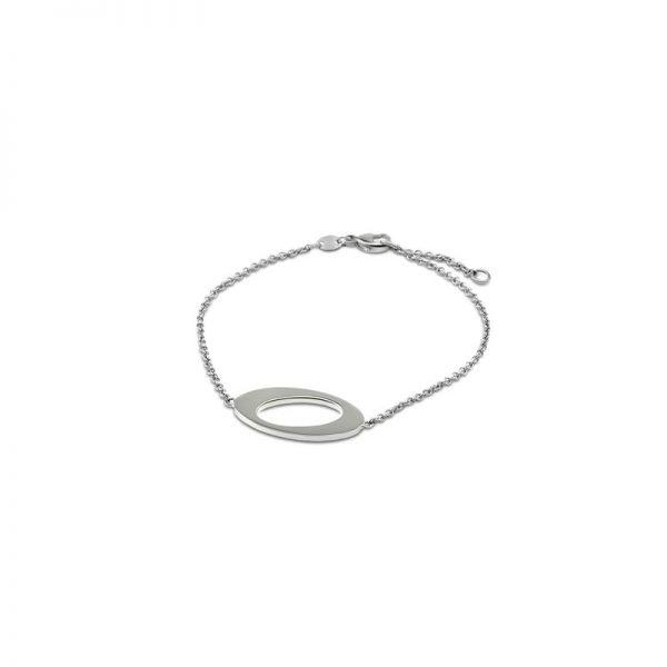 Ateljé TeBoon Oval & Out Armband Silver
