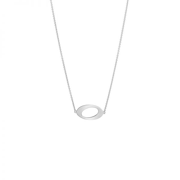 Ateljé TeBoon Oval & Out Collier Silver