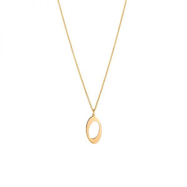 Ateljé TeBoon Oval & Out Halsband 18 K Guld