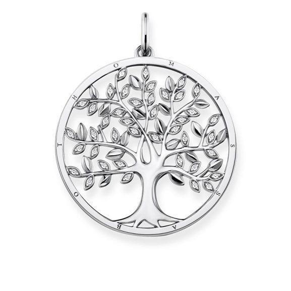 Thomas Sabo Tree Of Life Hängsmycke Silver Med Glittrande Löv