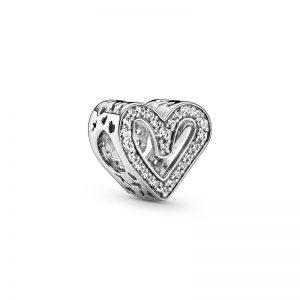 PANDORA Glittrande Freehand Hjärta Berlock fri frakt på Jewelrybox.se