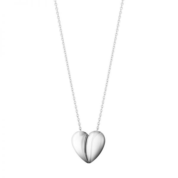 Georg Jensen  Curve Heart Pendant Silver