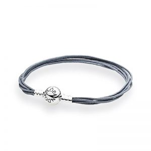 Moments Grey Multi-String Bracelet från Pandora