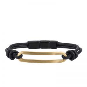 AROCK  BENJAMIN Läder Armband Guld