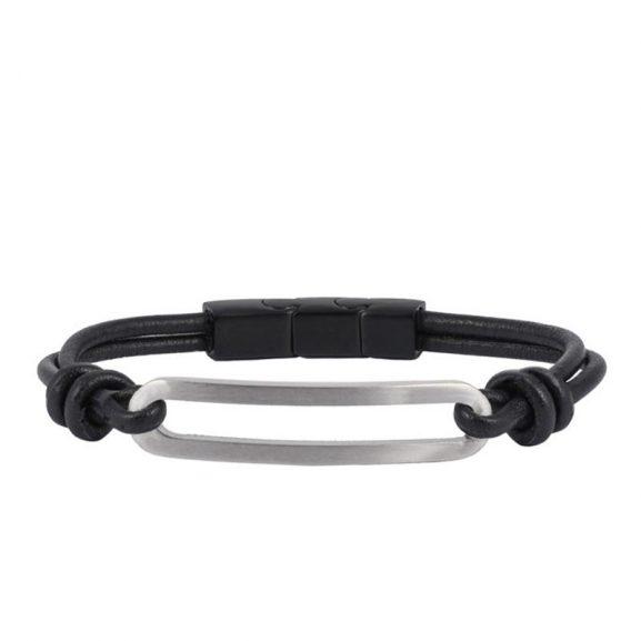 AROCK  BENJAMIN Läder Armband Stål