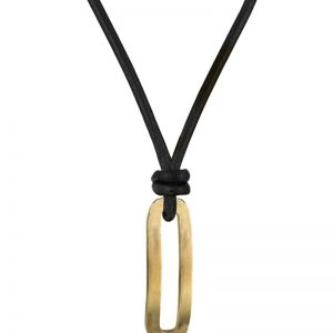 AROCK  BENJAMIN Läder Halsband Guld