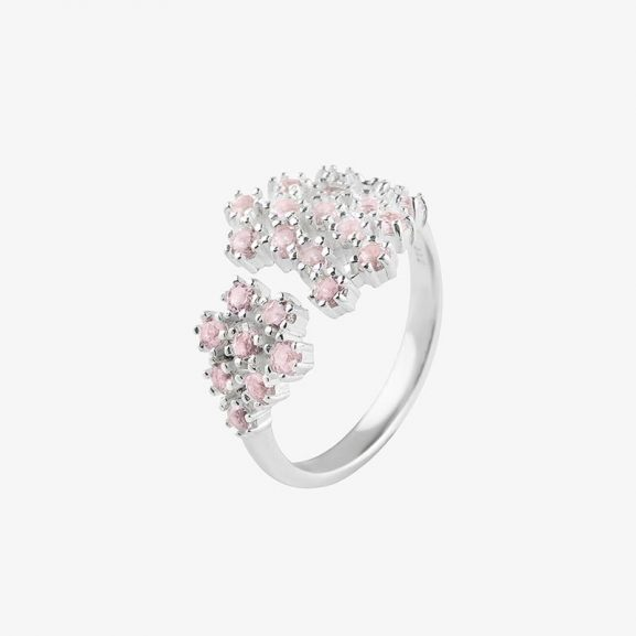 Drakenberg Sjölin Frost Ring Rose Quartz