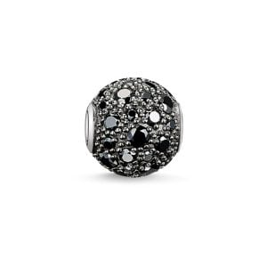 Thomas Sabo Karma Bead Crushed Pavé Black