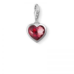 Charm-hängsmycke rött hjärta från Thomas Sabo