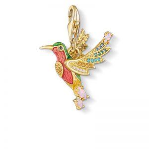 Kolibri Med Färgglada Stenar Berlock Guld från Thomas Sabo