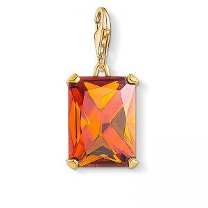 Stor Orange Juvel Berlock Guld från Thomas Sabo