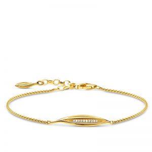 Glittrande Blad Armband Guld från Thomas Sabo