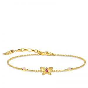 Armband Med Gyllene Fjäril Guld från Thomas Sabo