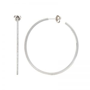 Creol Petit 0,90 ct 45 mm White Gold White Diamonds