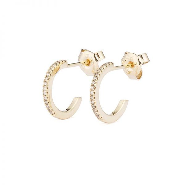 Creol Shapes 0.12 ct Gold Champagne Diamonds från Engelbert