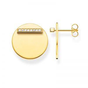 Stiftörhängen Together Bricka Guld från Thomas Sabo