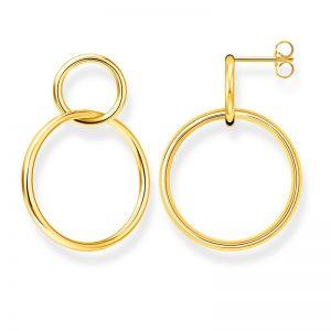 Örhängen Två Cirklar Guld från Thomas Sabo