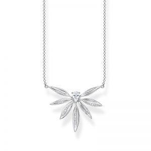 Halsband Glittrande Blad Silver från Thomas Sabo