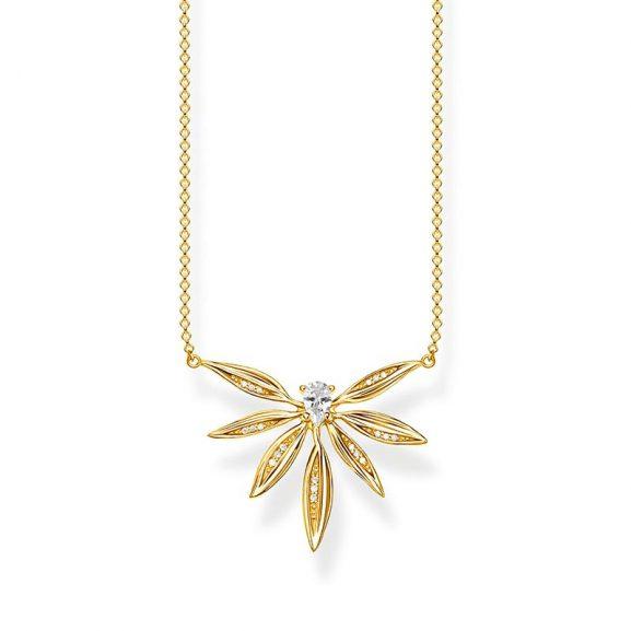 Halsband Glittrande Blad Guld från Thomas Sabo