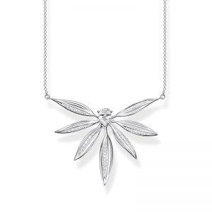 Stort Halsband Glittrande Blad Silver från Thomas Sabo