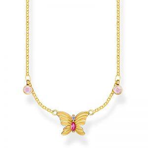 Halsband Fjäril Guld från Thomas Sabo