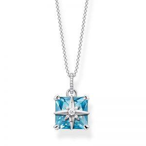 Halsband Blå Sten Med Stjärna från Thomas Sabo