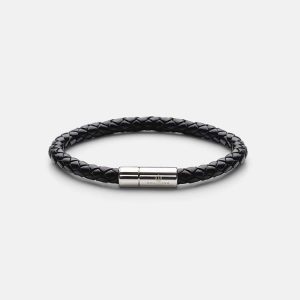 Leather Bracelet Silver - Black från Skultuna