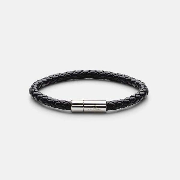 Leather Bracelet Silver - Black från Skultuna