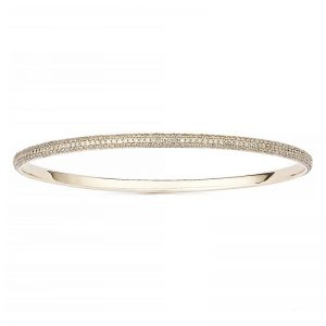 Petit Pavé Armring 18 K Guld 2.90 ct Champange Diamanter från Engelbert