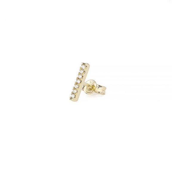 Petit Shapes Bar 0,03 ct Gold White Diamonds