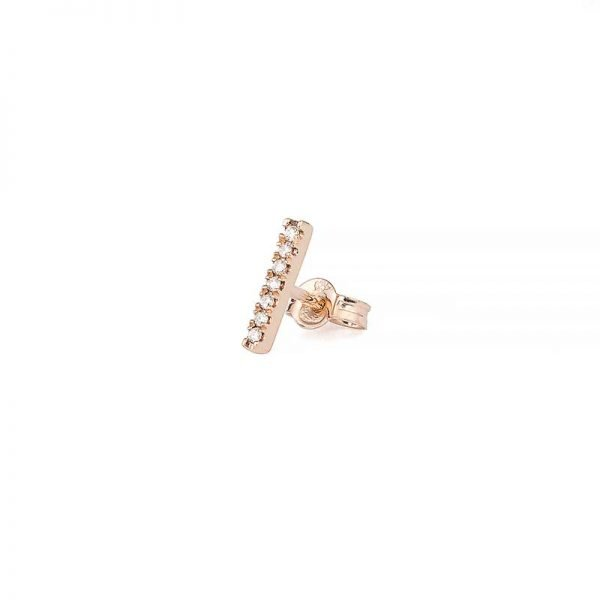 Petit Shapes Bar 0,03 ct Rose Gold White Diamonds