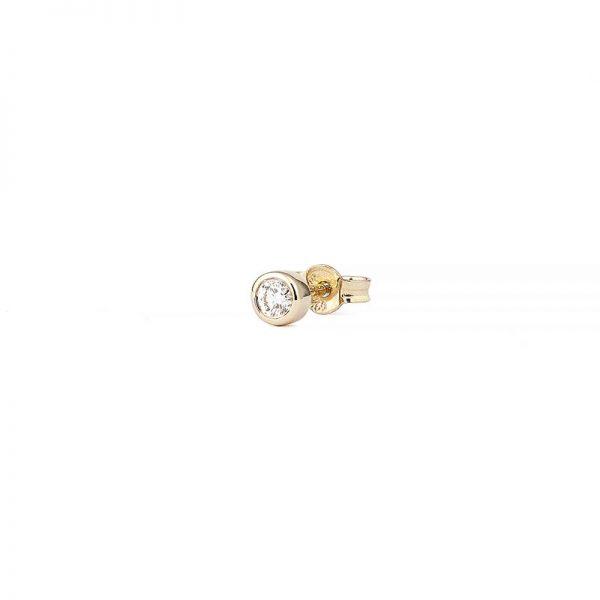 Petit Shapes Bezel 0,05 ct Gold White Diamond