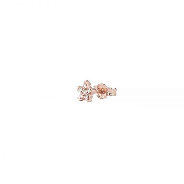 Petit Shapes Fleur 0,02 ct Rose Gold White Diamonds