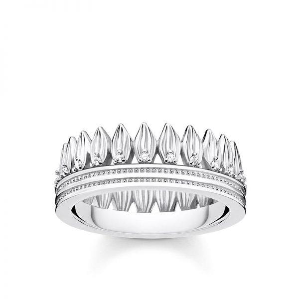 Ring Blad Krona Silver från Thomas Sabo