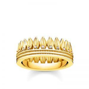 Ring Blad Krona Guld från Thomas Sabo
