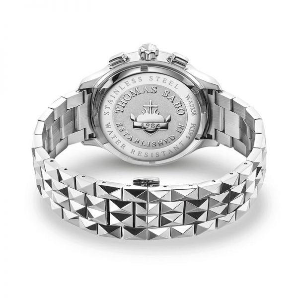 Rebel At Heart Chronograph Silver Svart från Thomas Sabo