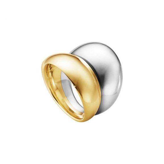 Curve Ring Silver/Guld från Georg Jensen