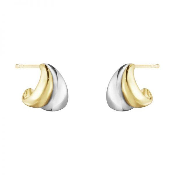 Curve Örhängen Silver/Guld Små från Georg Jensen