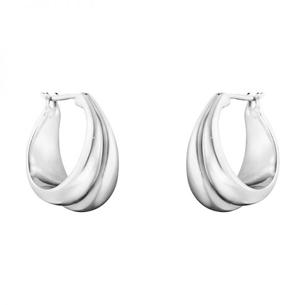 Curve Örhängen Silver från Georg Jensen