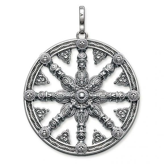 Hängsmycke Karma Wheel Svärtat från Thomas Sabo