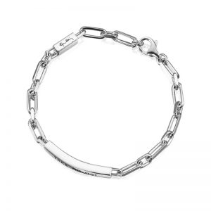 Thin Silver Bracelet - Take No Shit från Efva Attling