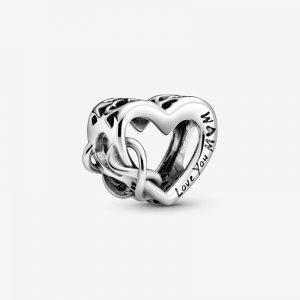 Älskar Dig Mamma Evighetstecken Hjärta Berlock från Pandora